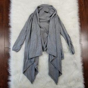 Zara Knit Women's Sm Gray Open Sweater Cardigan